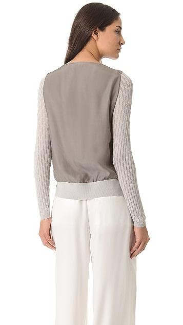 M.PATMOS Textured Silk Top