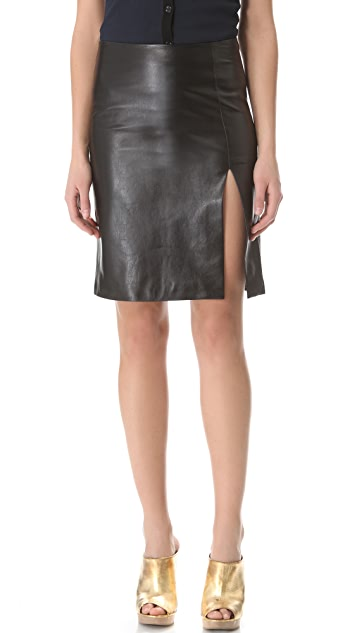 M.PATMOS Ernst Leather Skirt