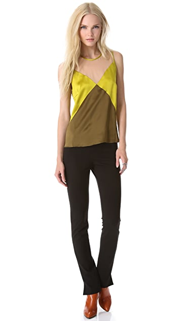 M.PATMOS Seamed Silk Top