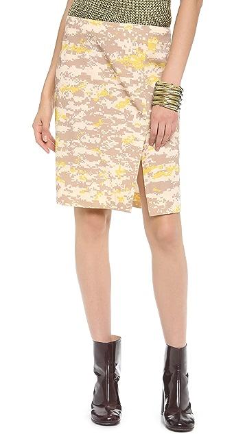 M.PATMOS Ikat Pixel Pencil Skirt