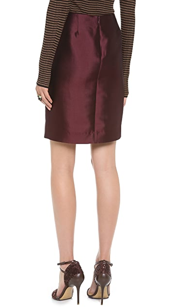 M.PATMOS Satin Twill Pencil Skirt