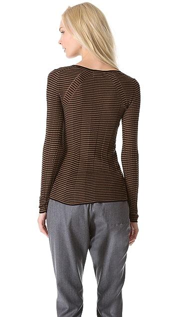 M.PATMOS Rib Striped Sweater