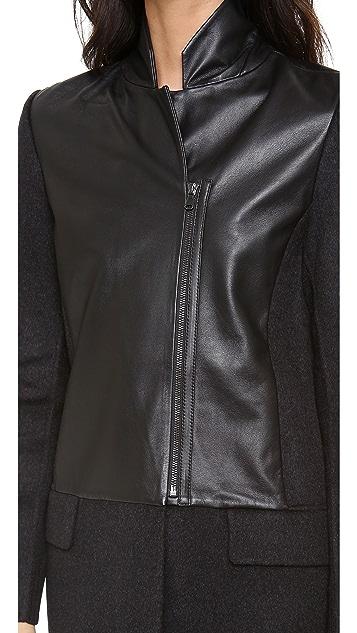 M.PATMOS Leather Front Coat