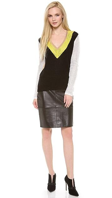 M.PATMOS Mesh Colorblock Sweater