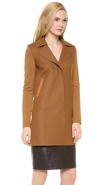 M.PATMOS Detachable Lapel Coat