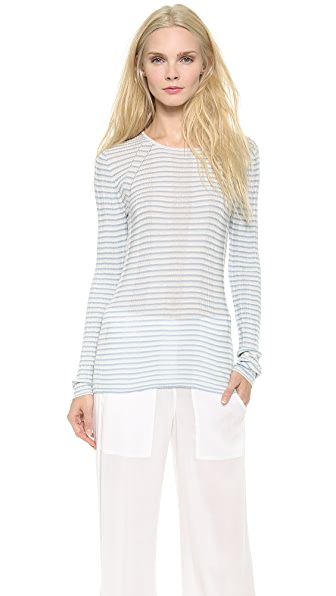 M.PATMOS Ribbed Layering Crew Neck Top