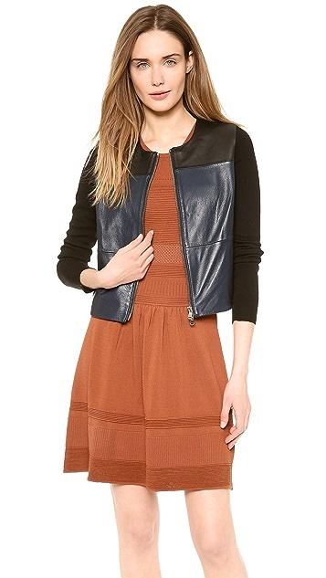M.PATMOS Seamed Leather Jacket