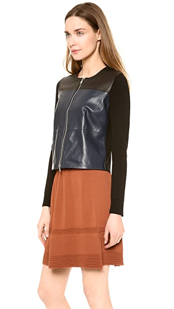 M.PATMOS Seamed Leather Jacket