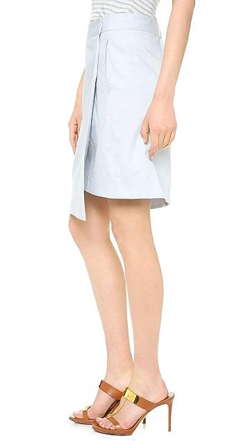M.PATMOS Chambray Wrap Skirt