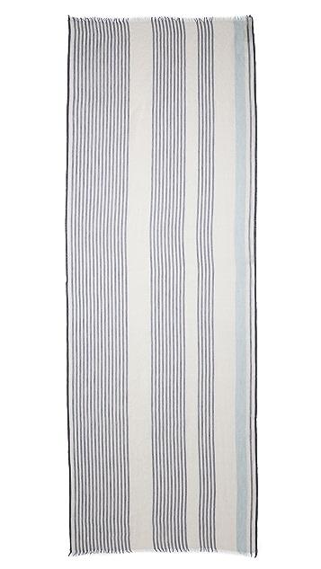 M.PATMOS Woven Vertical Stripe Scarf