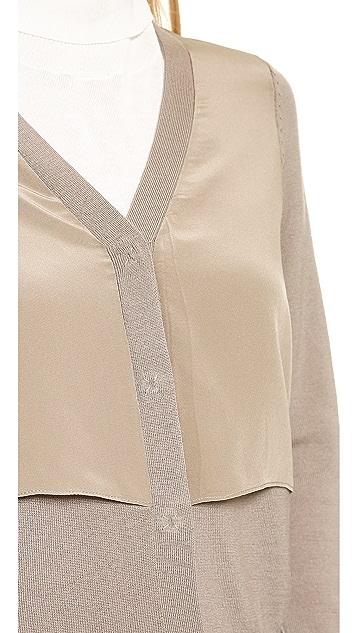 M.PATMOS Silk Front Cardigan