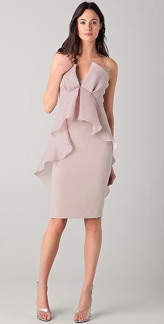 Marchesa Column Dress with Draped Bodice