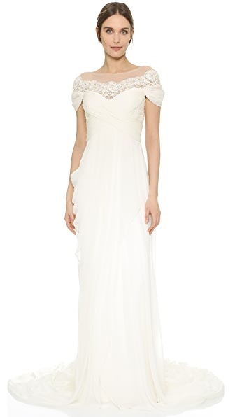 Marchesa Grecian Illusion Gown