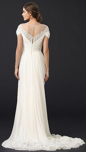 Marchesa Grecian Illusion Gown