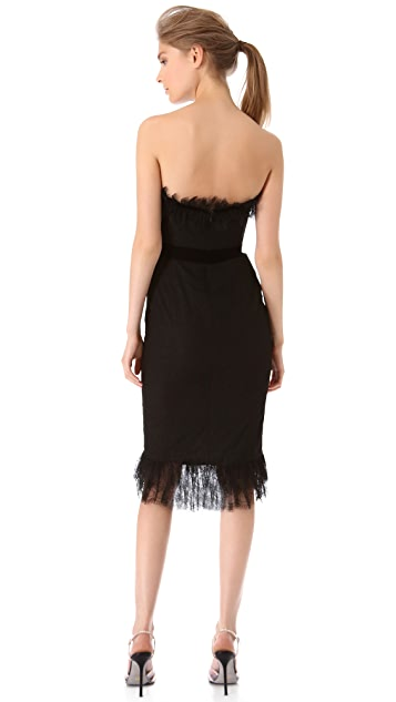 Marchesa Chantilly Lace Corset Dress