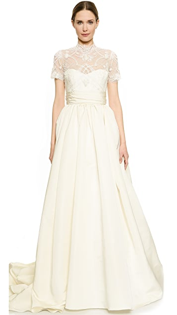 Marchesa Lace Bodice Ball Gown