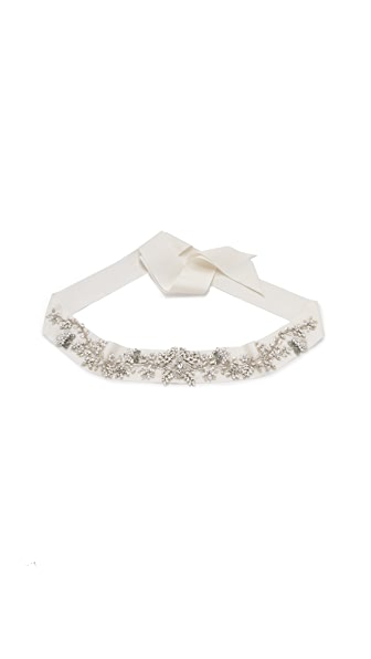 Marchesa Crystal Embroidered Belt