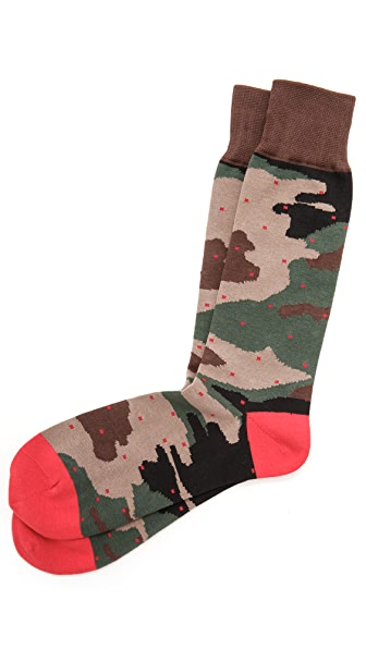 Mr. Gray Camo Dots Socks