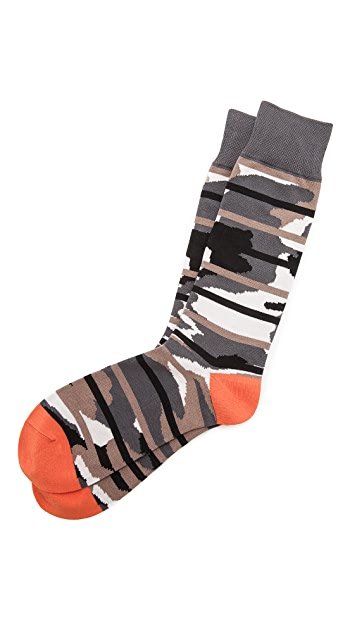 Mr. Gray Camo Stripes Socks