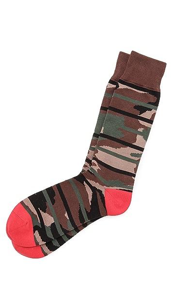 Mr. Gray Camo Stripes Socks