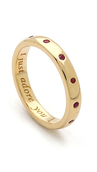 Monica Rich Kosann I Just Adore You Ruby Ring Charm
