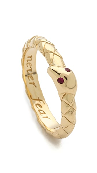 Monica Rich Kosann Never Fear Snake Ruby Ring Charm