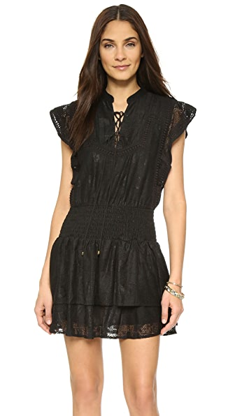 Moon River Lace Up Dress - Black