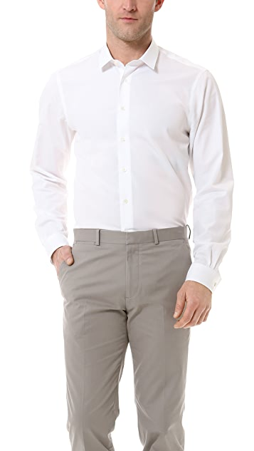 Mr. Start Square Collar Poplin Shirt