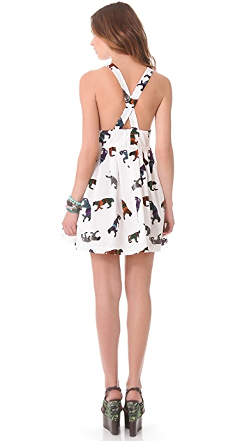 MSGM Panther Cross Back Dress
