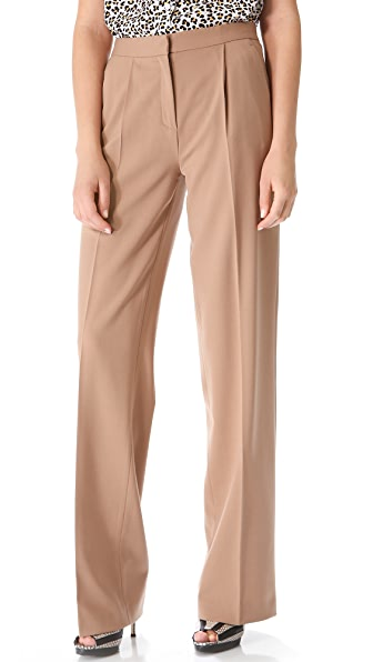 MSGM High Waisted Wide Leg Pants