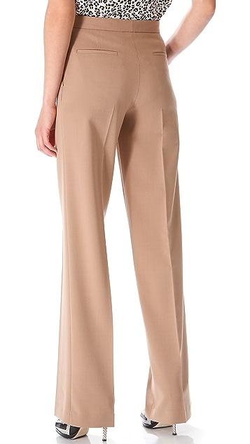 MSGM High Waisted Wide Leg Pants