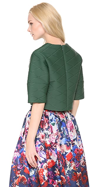 MSGM Quilted Crop Top