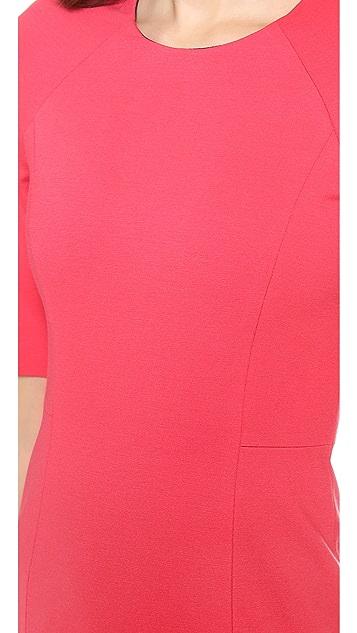 MSGM Short Sleeve Ruffle Dress