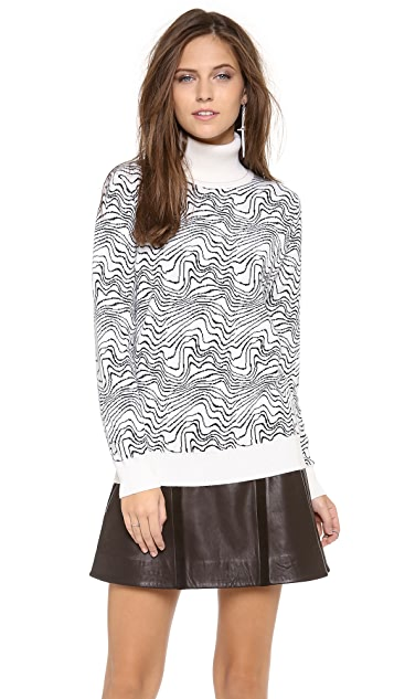 MSGM Turtleneck Zebra Sweater