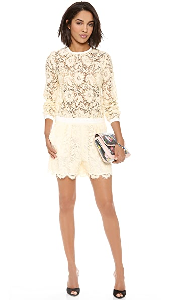 MSGM Lace Short Jumpsuit