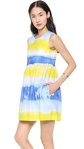 MSGM Cotton Tie Die Dress