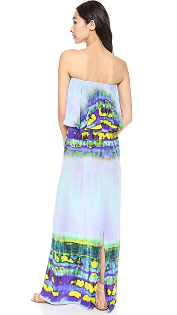 MSGM Long Tie Dye Dress