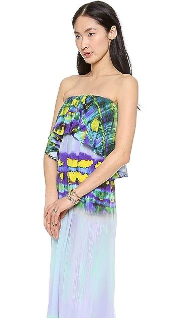 MSGM Long Tie Dye Dress