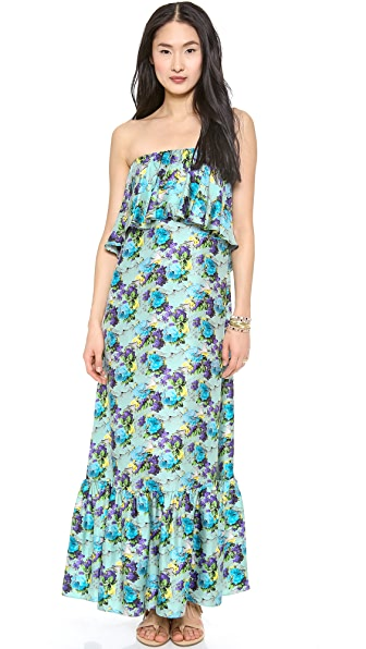 MSGM Long Flower Print Dress