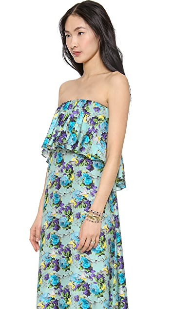 MSGM Long Flower Print Dress