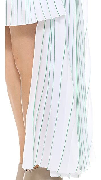 MSGM Strapless High Low Dress