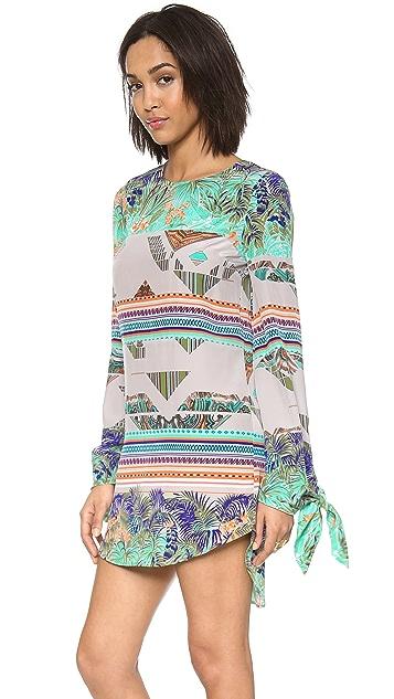 MSGM Printed Long Sleeve Dress