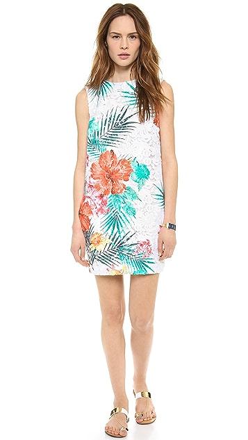MSGM V Back Print Dress