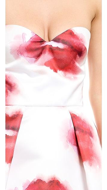 MSGM Strapless Lips Dress