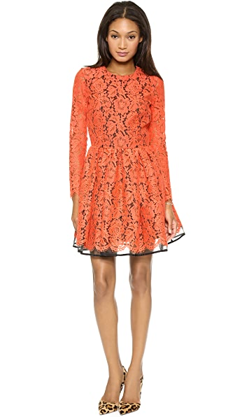 MSGM Long Sleeve Lace Dress
