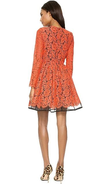 MSGM Long Sleeve Lace Dress