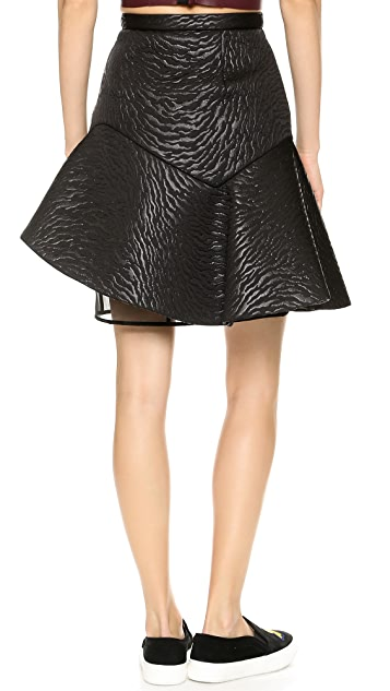MSGM Zebra Neoprene Structured Skirt