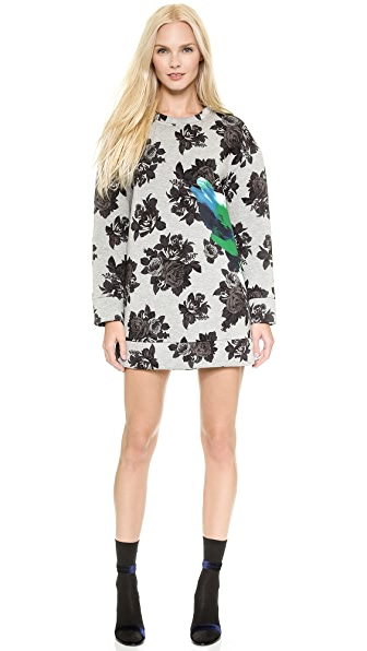 MSGM Neoprene Sweatshirt Dress