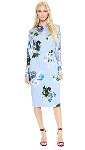 MSGM Longsleeve Floral Dress