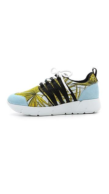 MSGM Eye Webbing Jogging Sneakers